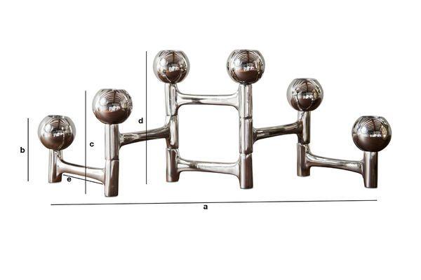 Dimensiones del producto Candelero Cromo Hexaball