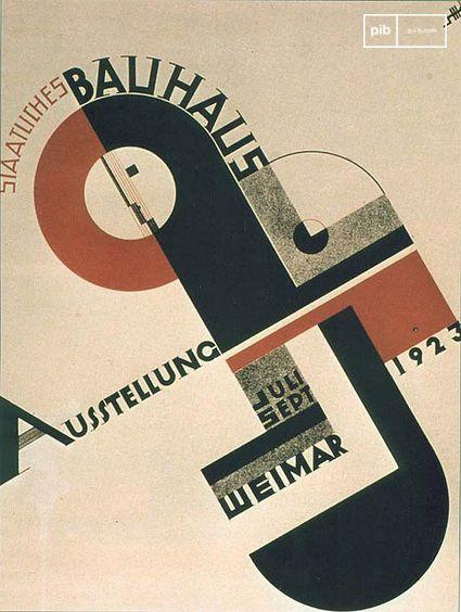 Cartel de la Bauhaus 1923