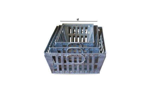 Dimensiones del producto Cestas de metal Triple Pack