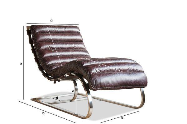 Dimensiones del producto Chaise longue Weimar
