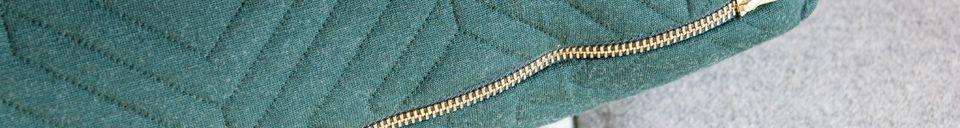 Descriptivo Materiales  Cojín Grande Acolchado Verde Oscuro