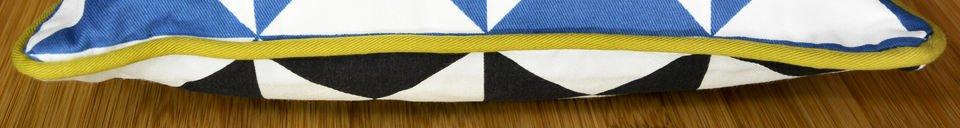 Descriptivo Materiales  Cojín pequeño azul Norway