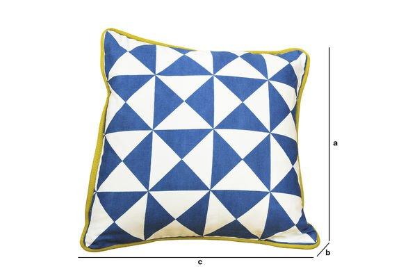 Dimensiones del producto Cojín pequeño azul Norway