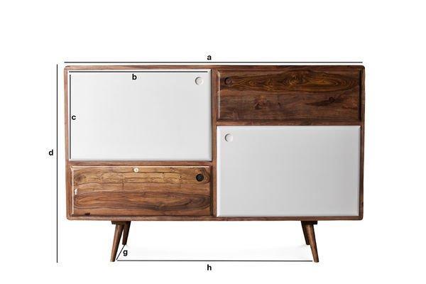Dimensiones del producto Cómoda de madera 1969