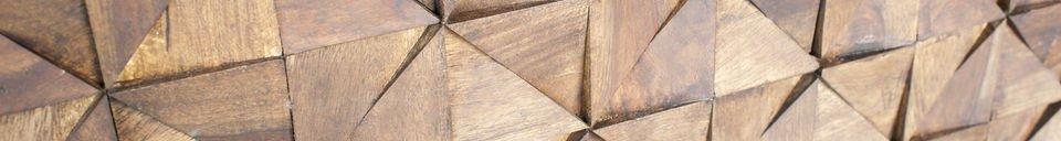 Descriptivo Materiales  Cómoda de madera Balkis