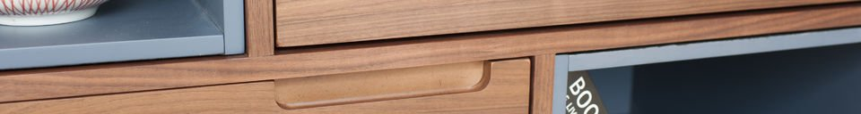 Descriptivo Materiales  Cómoda de madera Cassi