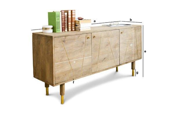 Dimensiones del producto Cómoda de madera Messinki