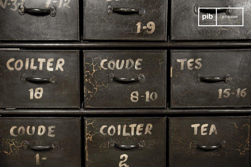 Mueble de almacenamiento, 100% vintage con estilo industrial