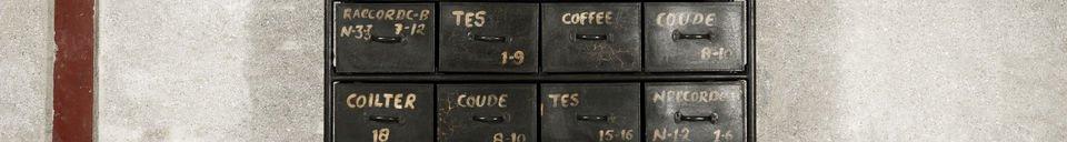 Descriptivo Materiales  Cómoda de taller con 24 cajones
