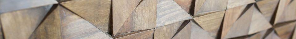 Descriptivo Materiales  Cómoda de tres cajones Balkis