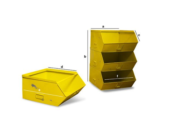 Dimensiones del producto Cómoda Felix con 4 bandejas