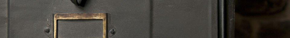 Descriptivo Materiales  Cómoda metálica con 10 cajones