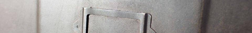 Descriptivo Materiales  Cómoda metálica con 5 cajones