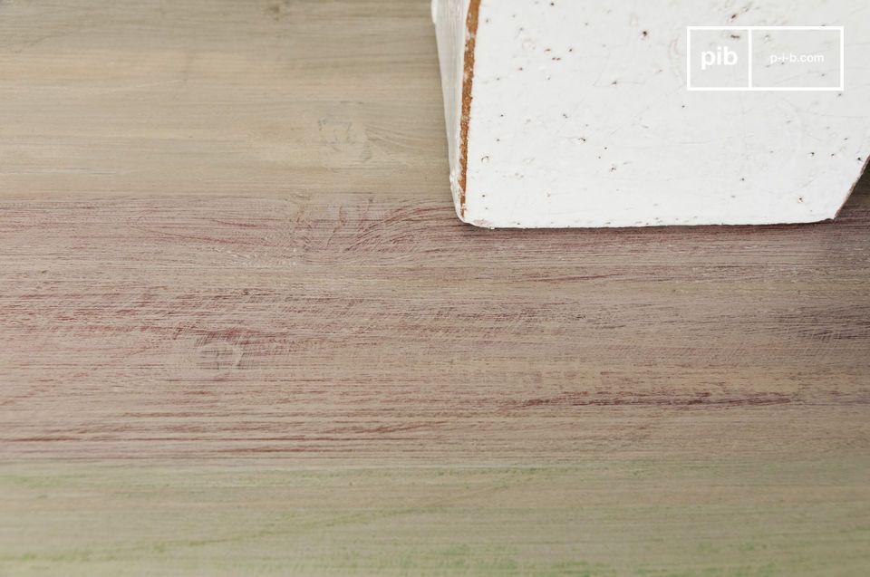 Esta consola con tapa de madera recuperada le dará un estilo rustico a su interior