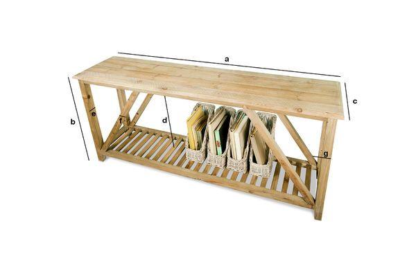 Dimensiones del producto Consola de madera Cadynam