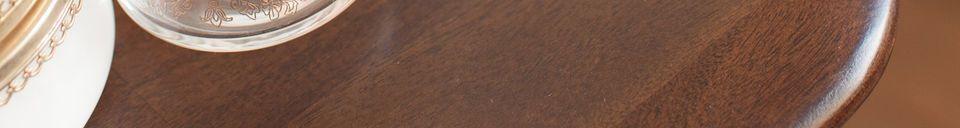 Descriptivo Materiales  Consola de madera Larssön