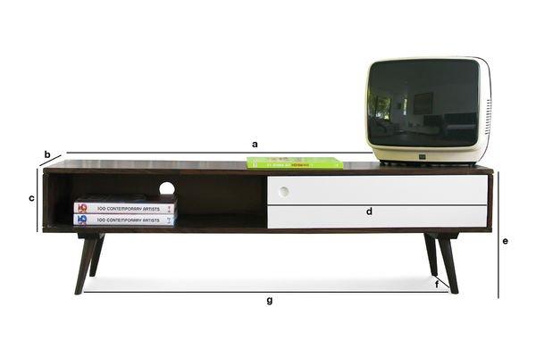 Dimensiones del producto Consola de TV Brown y White