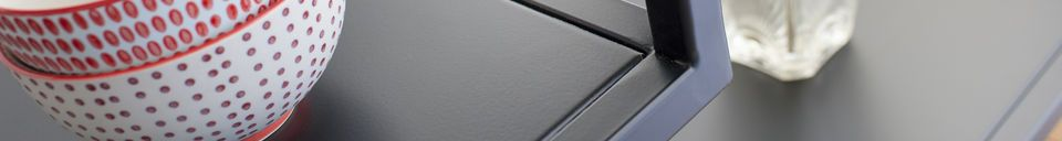 Descriptivo Materiales  Consola en metal negro Duvignac