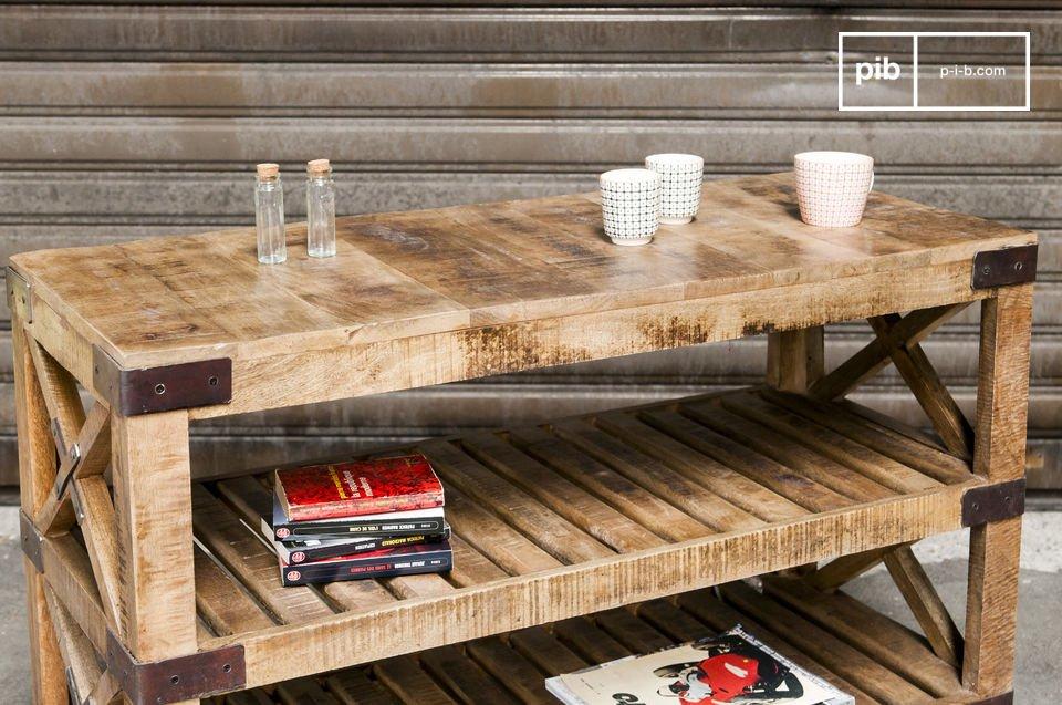 La mesa consola Paddington irradia gracias a su gran apariencia industrial