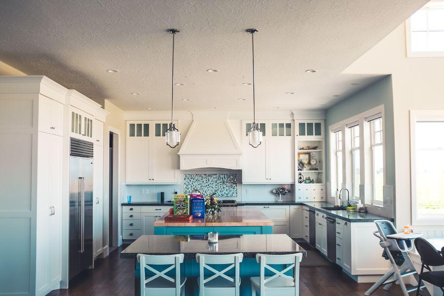 cucina in azzurro