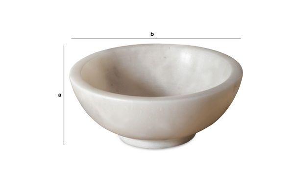 Dimensiones del producto Cuenco de mármol blanco Wäg
