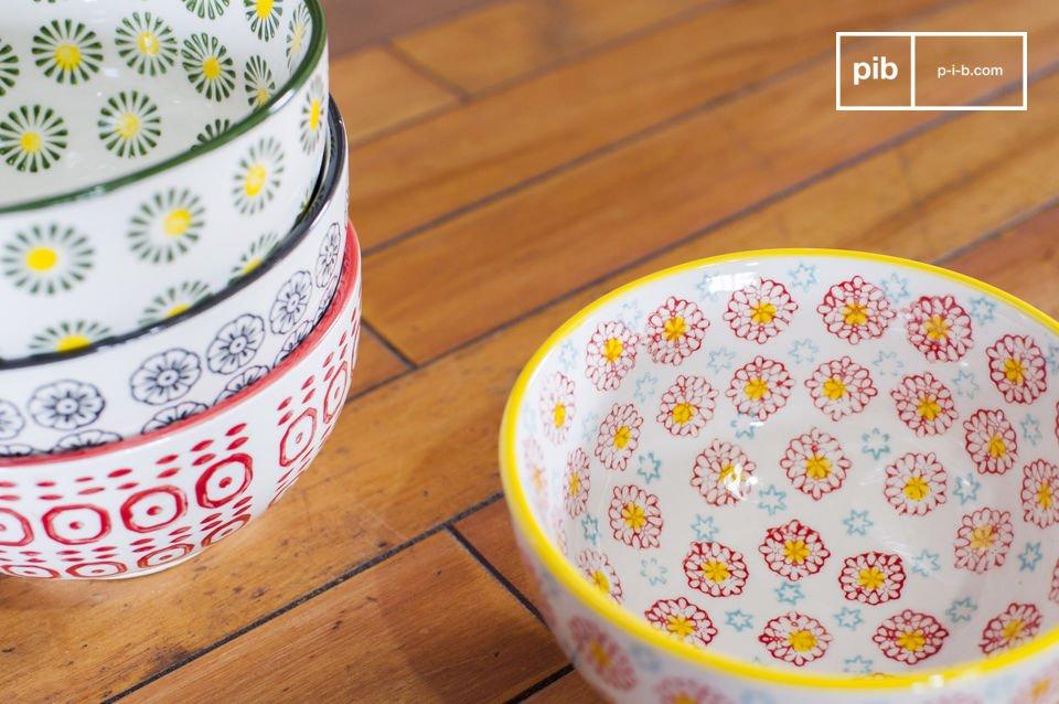 Los cuencos Julia son objetos prácticos y originales que aportarán un toque retro a la decoración
