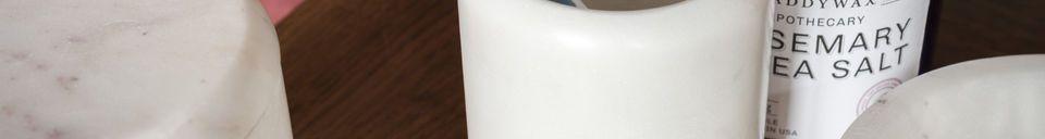 Descriptivo Materiales  El contenedor mármol blanco Wäg