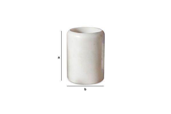 Dimensiones del producto El contenedor mármol blanco Wäg