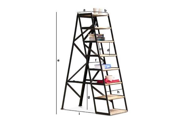 Dimensiones del producto Escalera estudio de 8 escalones