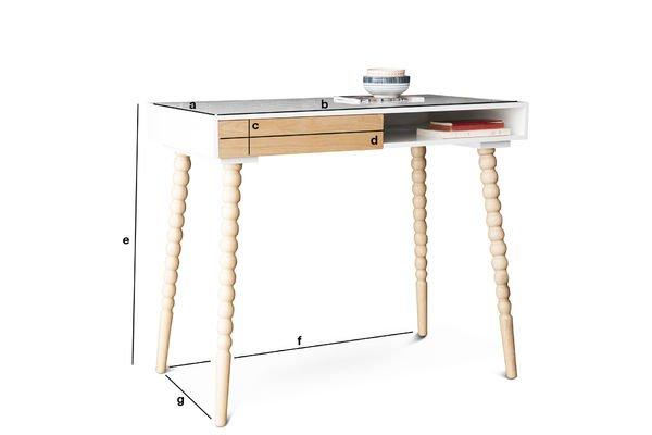 Dimensiones del producto escritorio Katalina con cajón