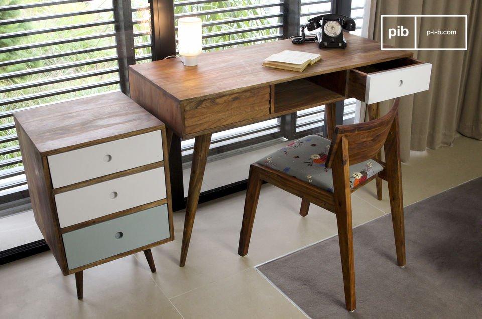 Un elegante escritorio inspirado en muebles escandinavos vintage