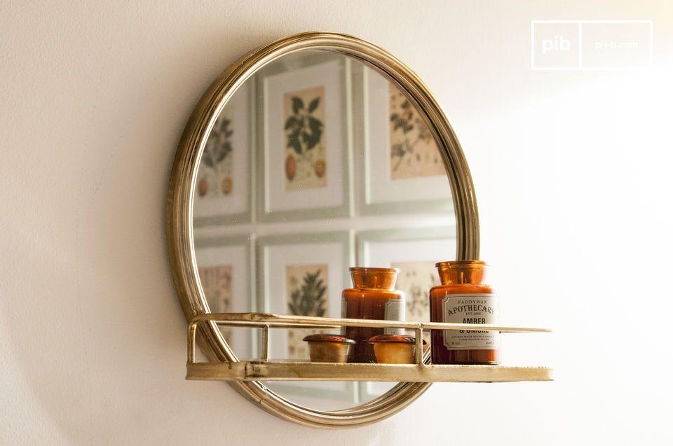Espejo Clémentine con estantería