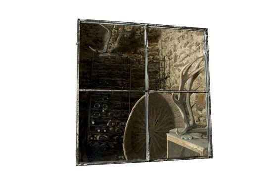Espejo con marco metálico de diseño industrialEspejo cuadrado 4 secciones Clipped