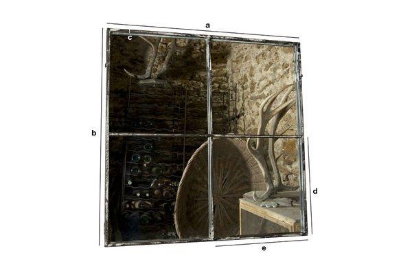 Dimensiones del producto Espejo cuadrado con cuatro paneles