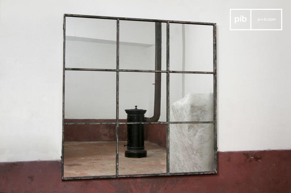 Espejo cuadrado de 9 paneles