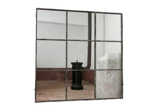 Espejo cuadrado de 9 paneles Clipped