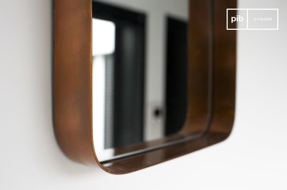 La versión cuadrada del espejo con el estilo nórdico