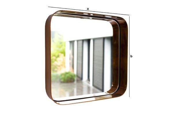 Dimensiones del producto Espejo cuadrado Lena