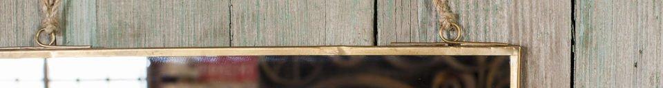 Descriptivo Materiales  Espejo cuadrado Solliès-Puente de oro