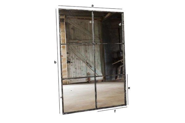 Dimensiones del producto Espejo de 6 secciones