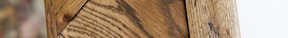 Descriptivo Materiales  Espejo de madera Queens