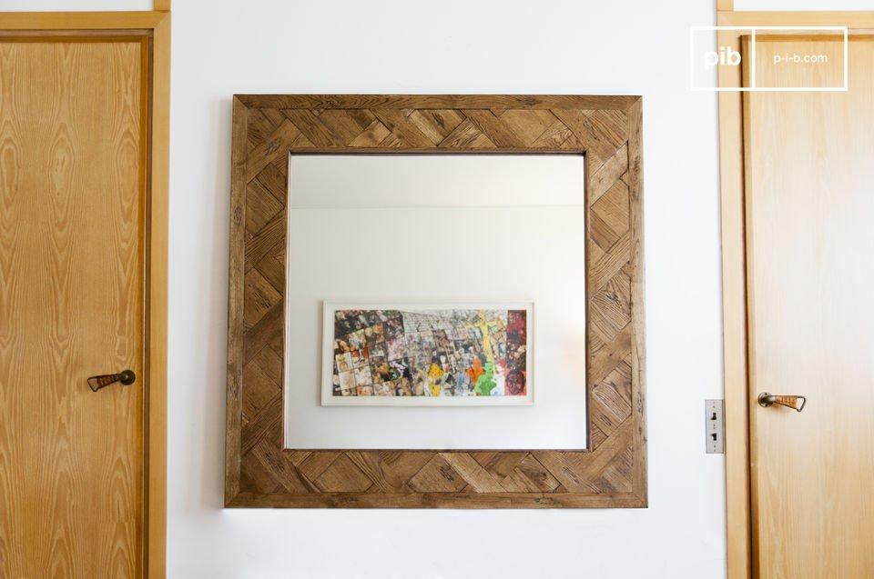 Espejo de madera Queens