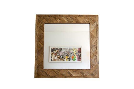 Espejo de madera Queens Clipped