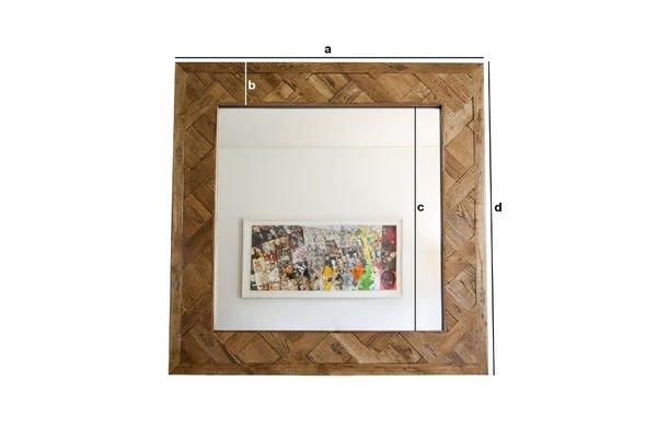 Dimensiones del producto Espejo de madera Queens