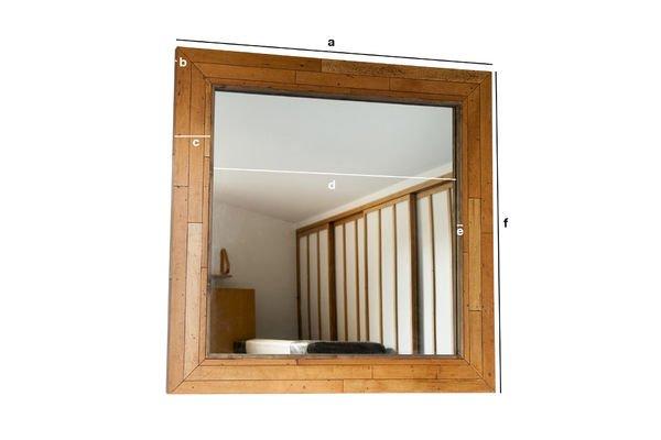Dimensiones del producto Espejo de madera Sheffield