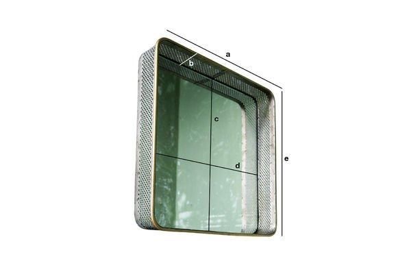 Dimensiones del producto Espejo de metal Olonne
