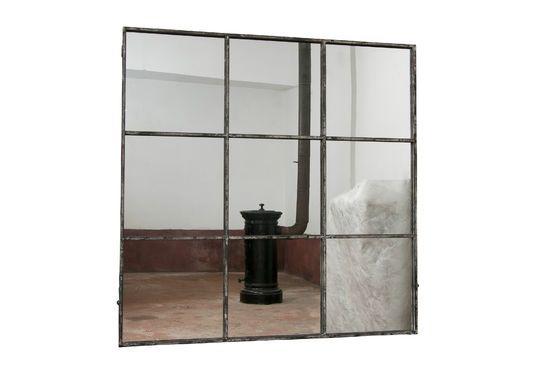 Espejo de nueve paneles cuadrados Clipped