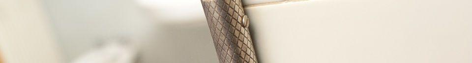 Descriptivo Materiales  Espejo de pared con cadena Gabin
