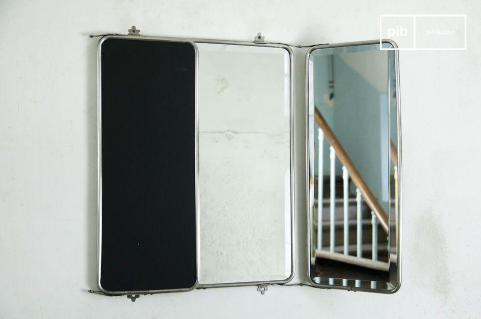 El espejo abatible es un magnífico elemento decorativo retro para sus paredes que