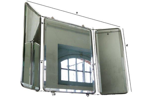 Dimensiones del producto Espejo de pared estilo tríptico